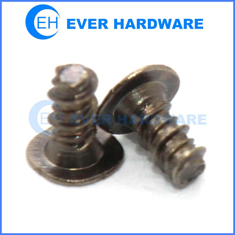Thin Head Screw Black Nickel Plating Electronics Screws