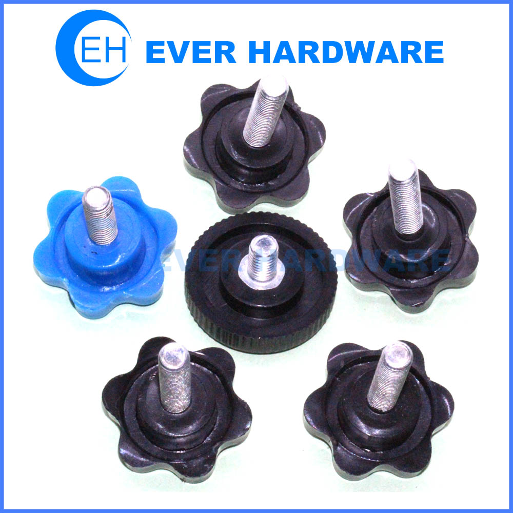 Plastic Thumb Screw Knobs Metric Threaded Knobs Metal And
