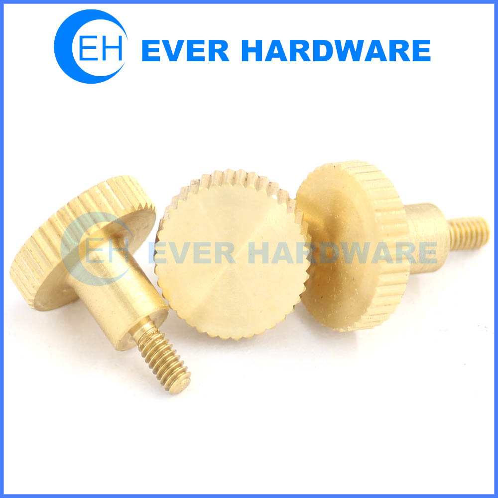 Knurled Captive Thumb Screws Decorative Round Head Threaded Handle