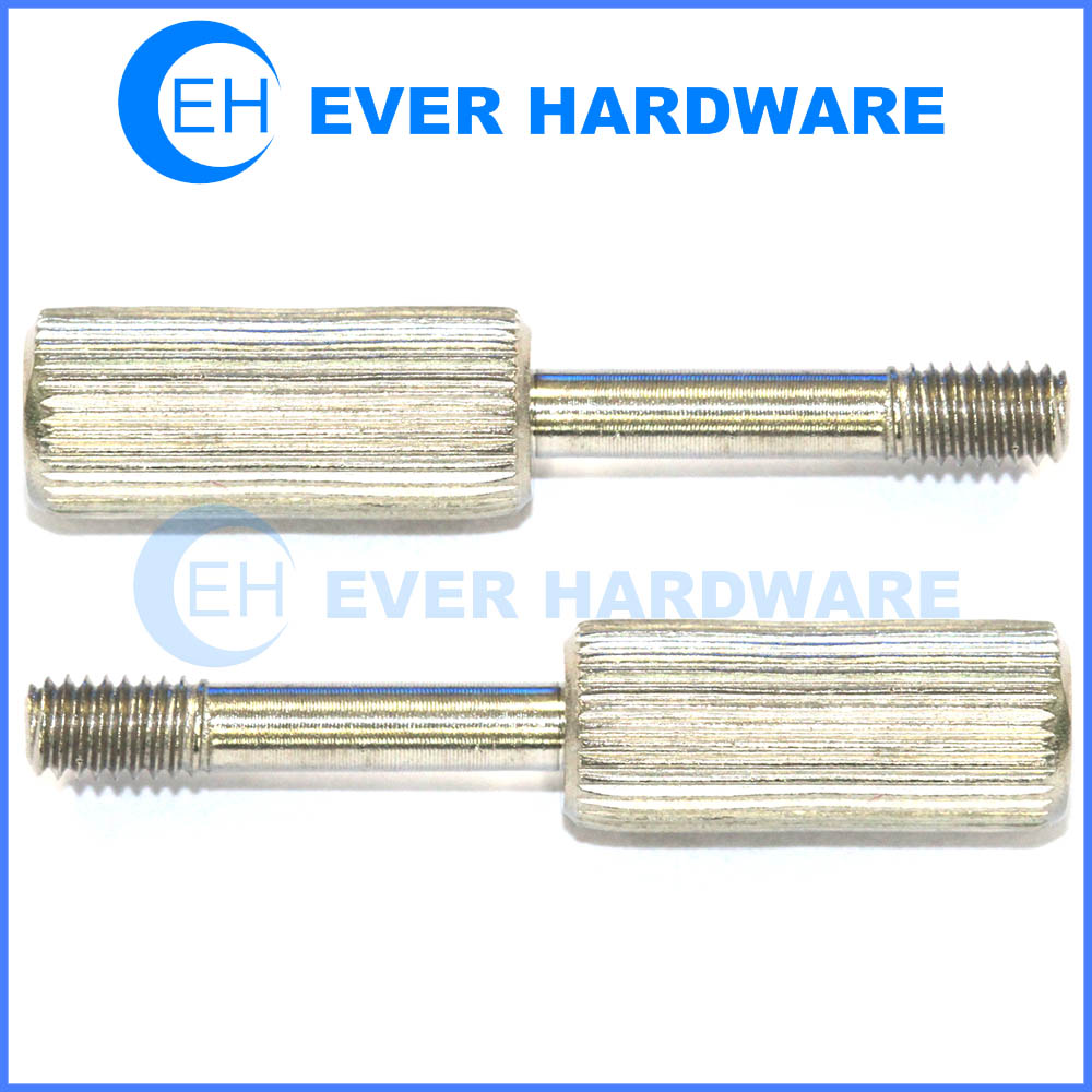 Knurled-Head Thumb Screw 18-8 Stainless Steel Thread Size #8-32 FastenerParts Narrow