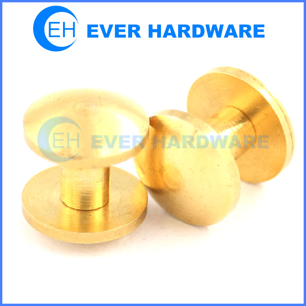 Binder post aluminum brass slot custom made post screw supplier