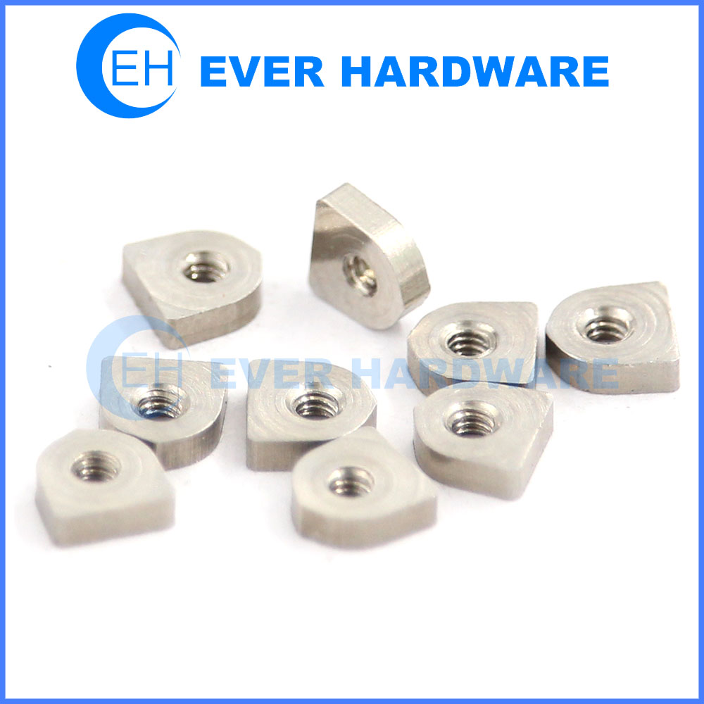 D shaped nut stainless steel precision micro nut electronic nut supplier