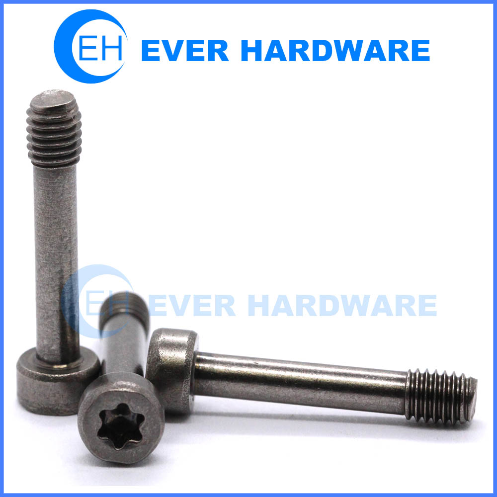 Flat head torx screw socket head black screw caps
