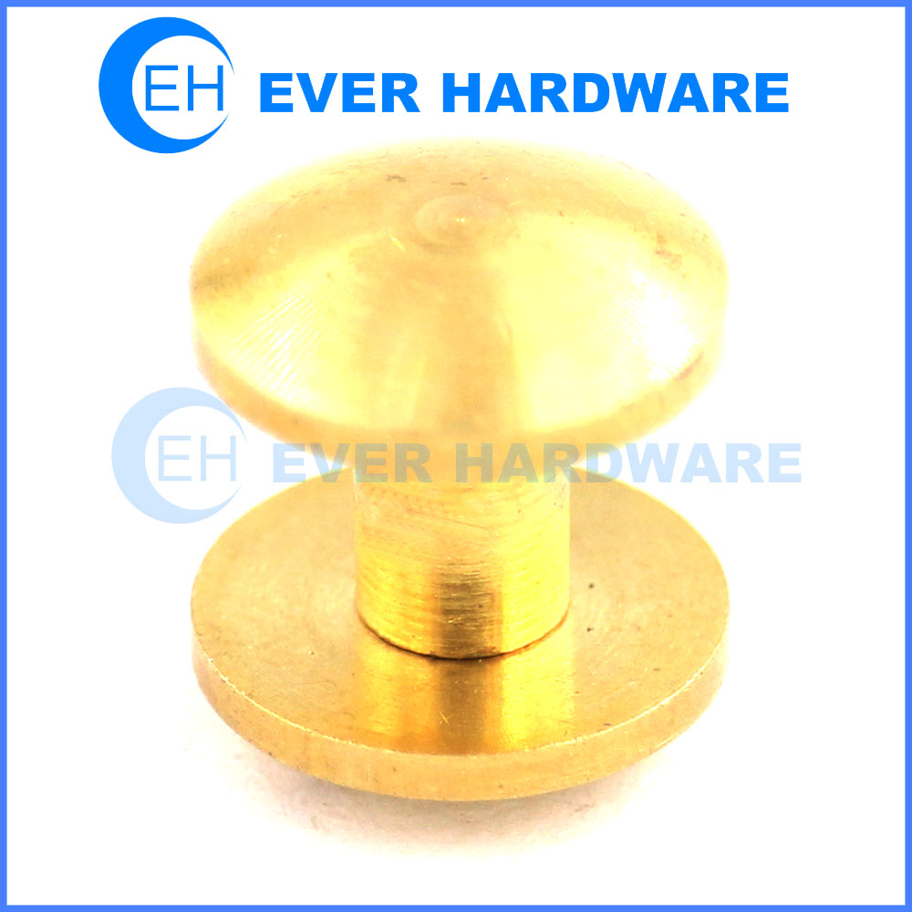 Male female screw fasteners round head screw brass customized