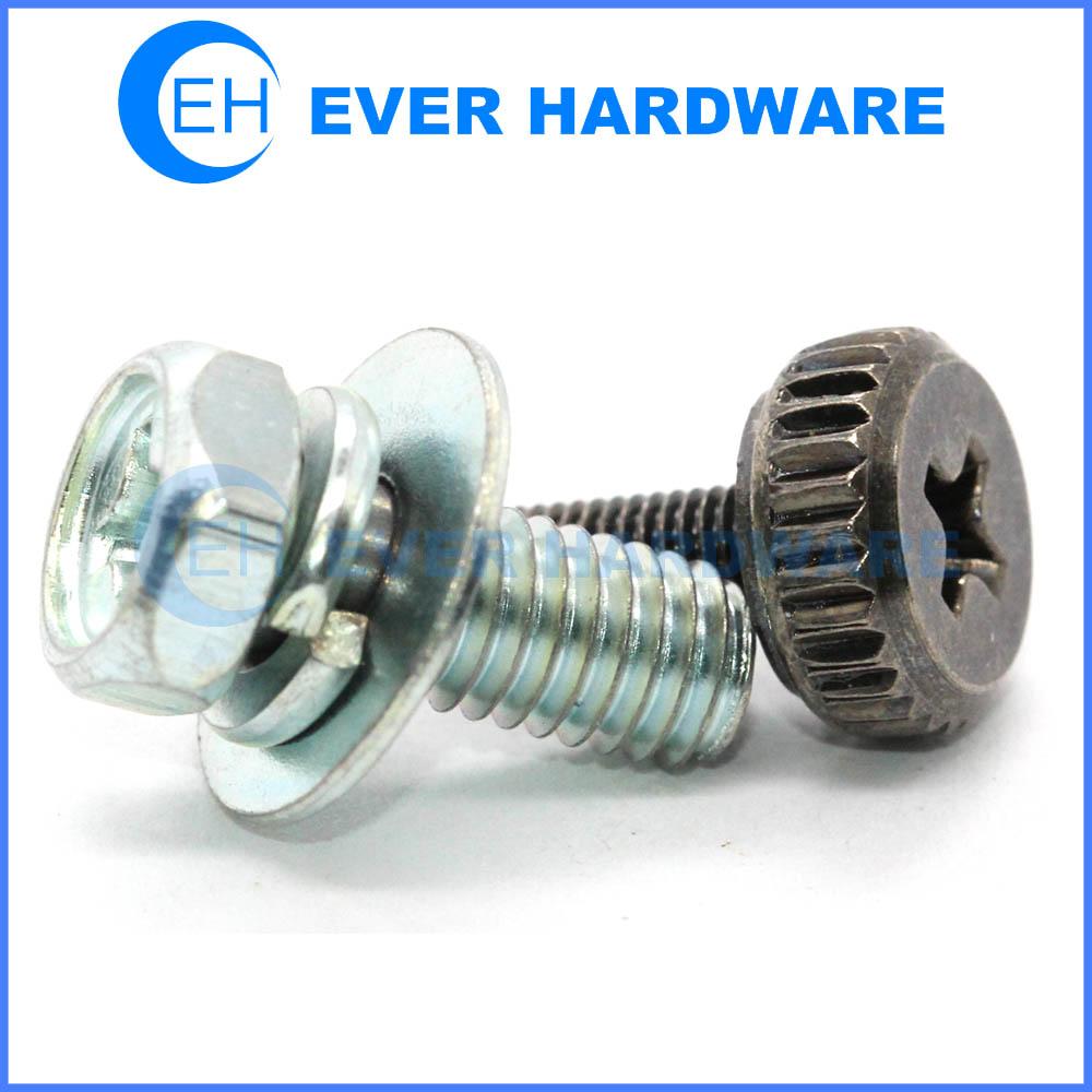 Sems bolts metric fasteners galvanized screws hex cap screw
