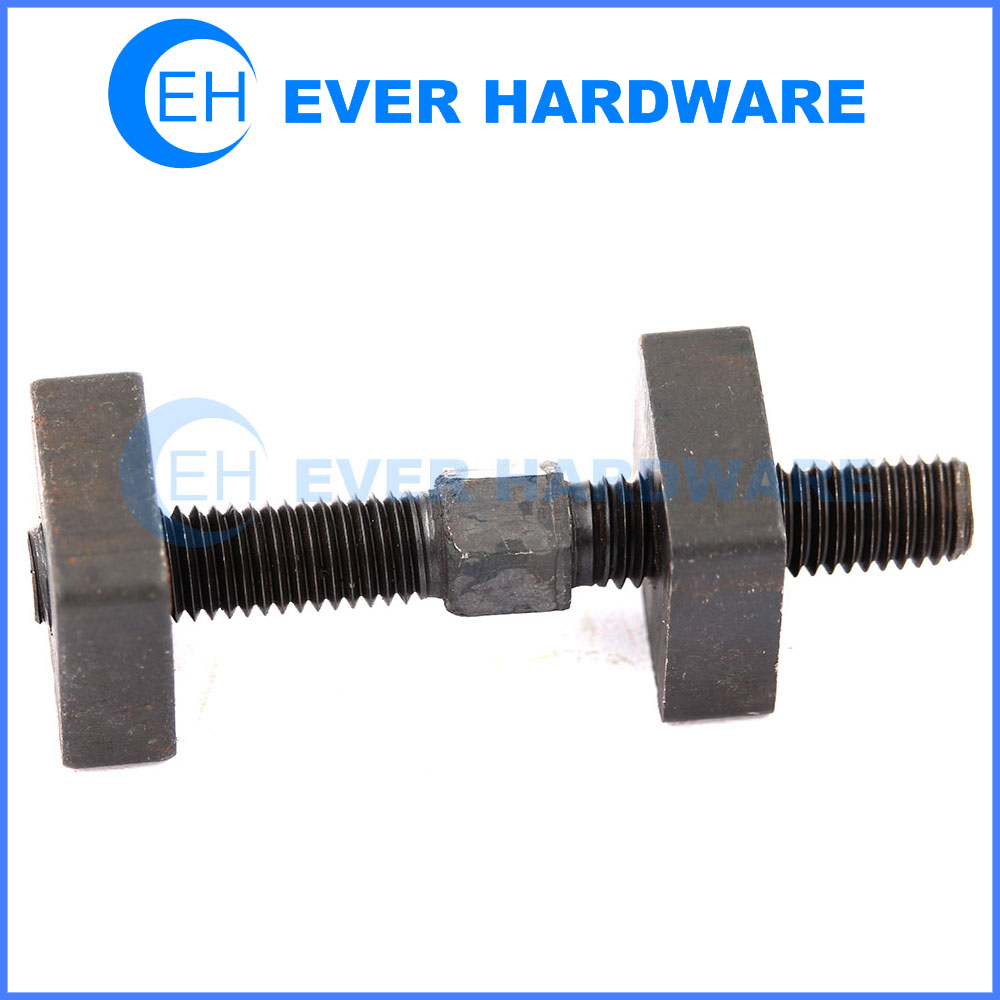 Square nut bolt square nuts high tensile bolts male female fasteners