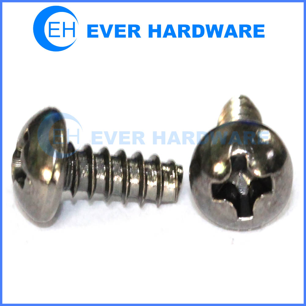 Thread rolling screw for plastic metal thread screws round cross