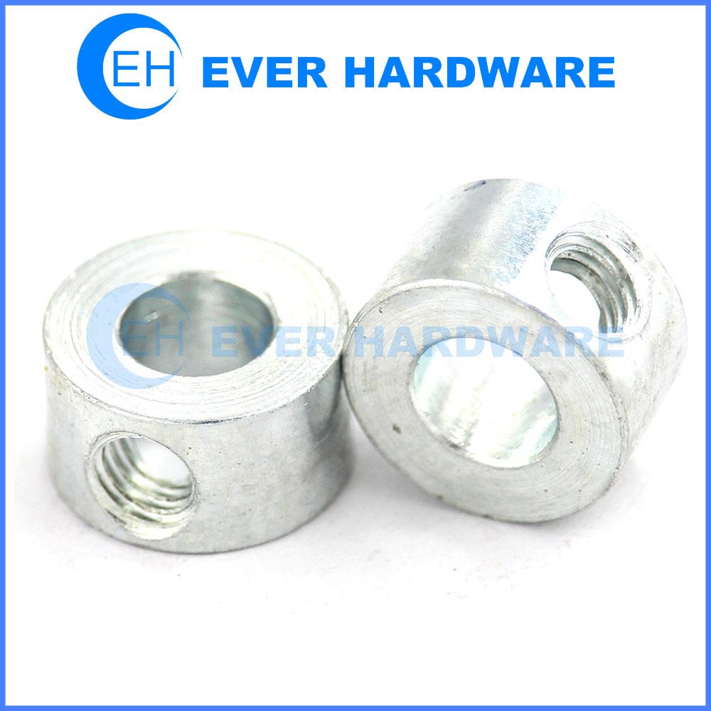 Threaded spacers steel zinc plating round spacers custom made
