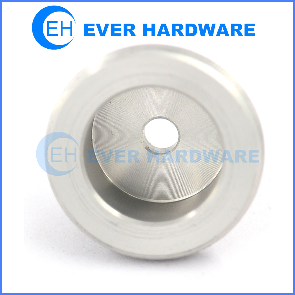 Tube spacer 1 inch spacers decorative aluminum hole attached spacer