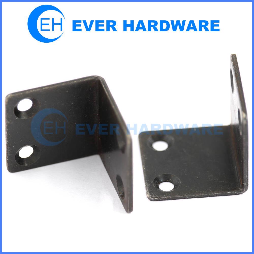 Angle support L shaped angle brackets black plated corner braces