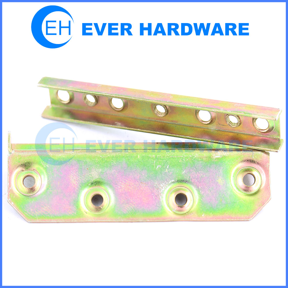 Bed frame connectors metal brackets for bed frame yellow galvanizing