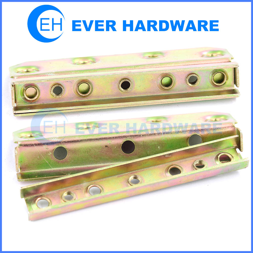 Bed hinges cabinet brackets and slat bed hinges yellow zinc plating