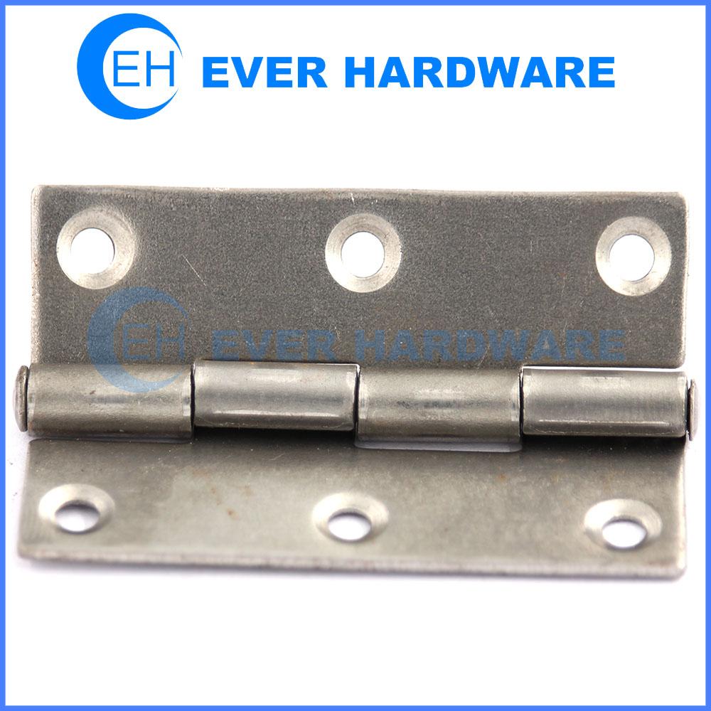 Butt hinges full mortise natural color steel door hinges manufacturer