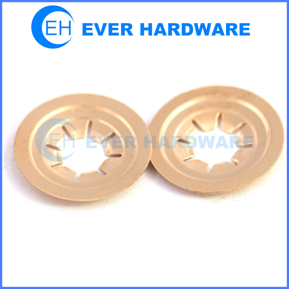 Capped starlock washers lock retaining washers for threaded fasteners