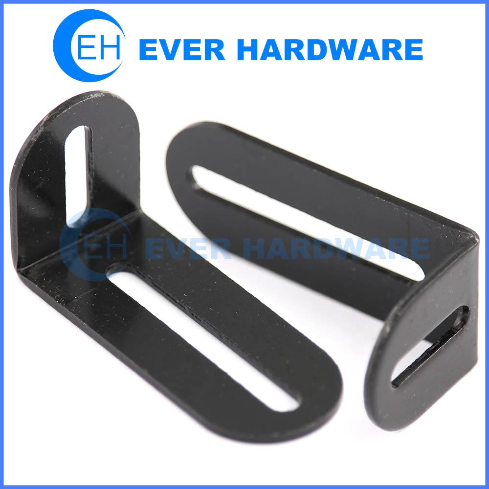 Countertop Support Brackets Black Galvanized Adjustable L