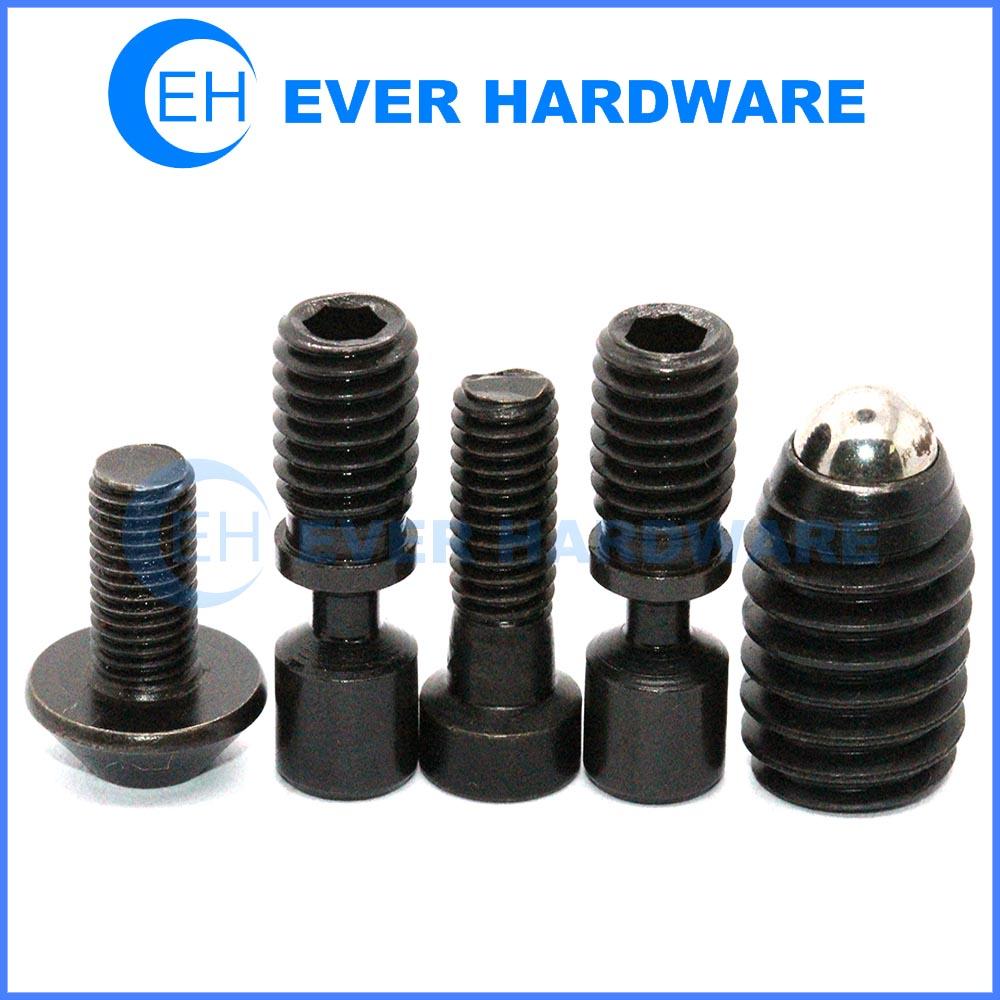 Custom made screws black metal galvanizing hex socket screws supplier