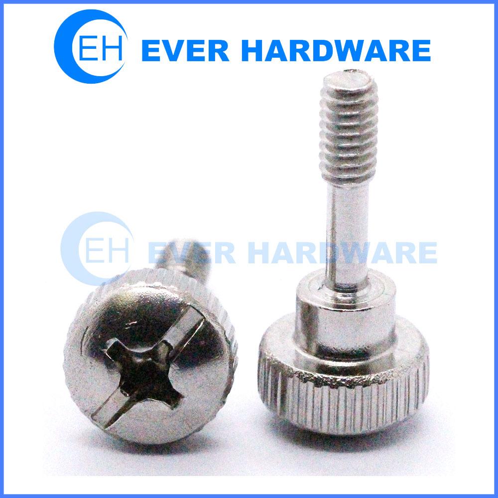 Electrical appliances screws stainless steel shoulder screws slot cross