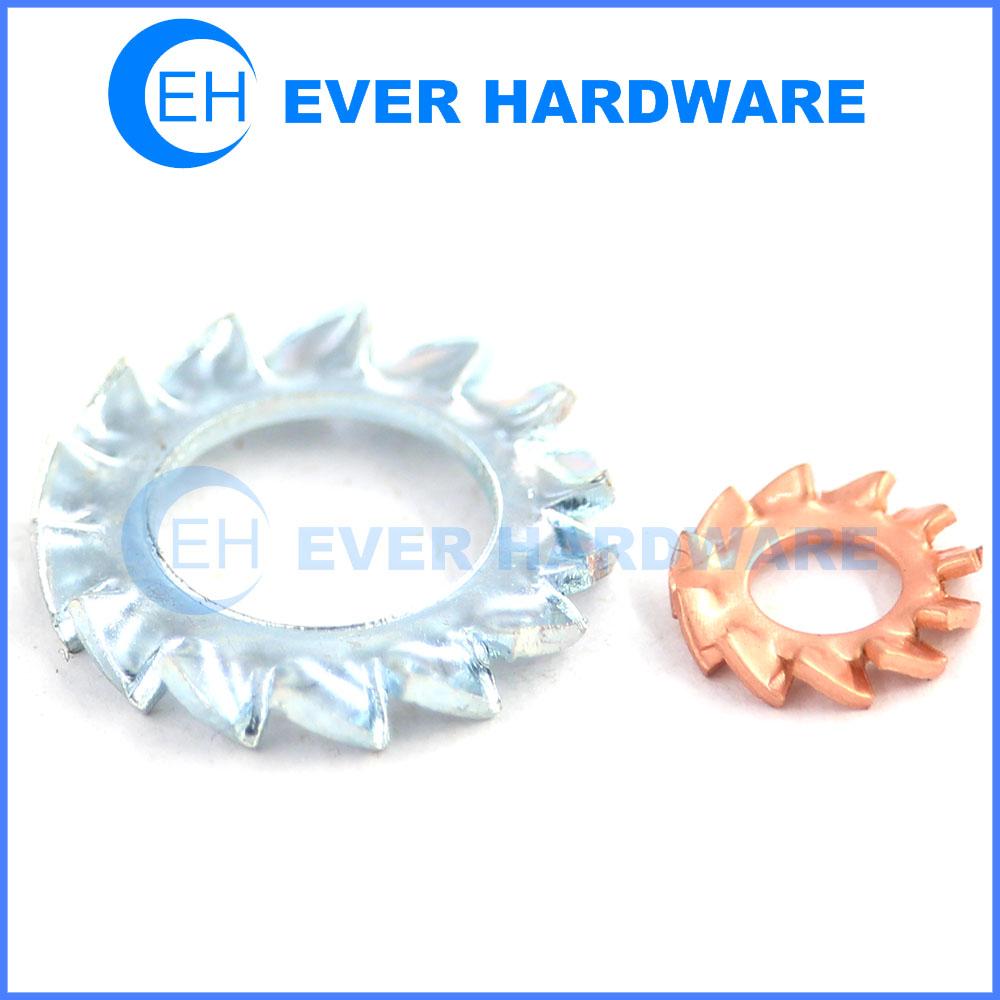 Copper Lock Washer : External lock washer steel copper asme b metric