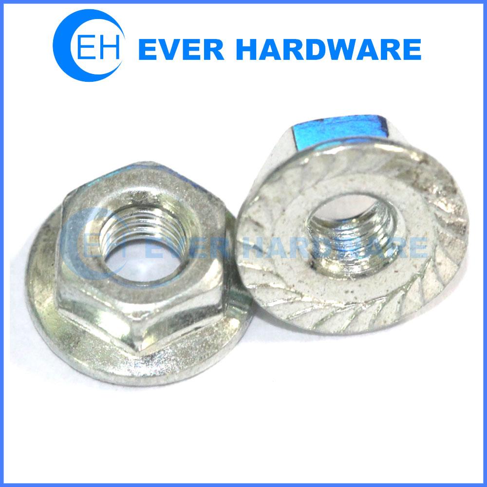 Flange lock nut steel galvanized nuts metric fasteners