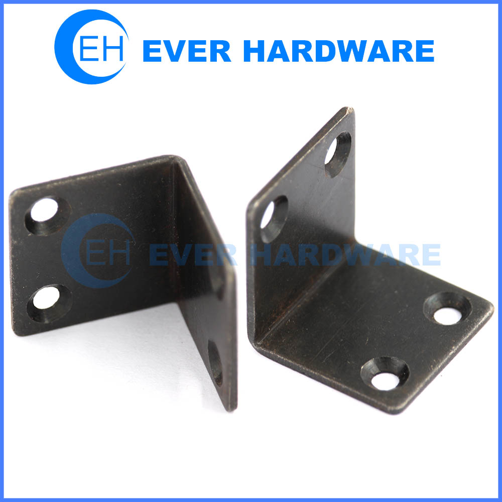 Galvanized Angle Brackets Black 90 Degree Angle 4 Holes