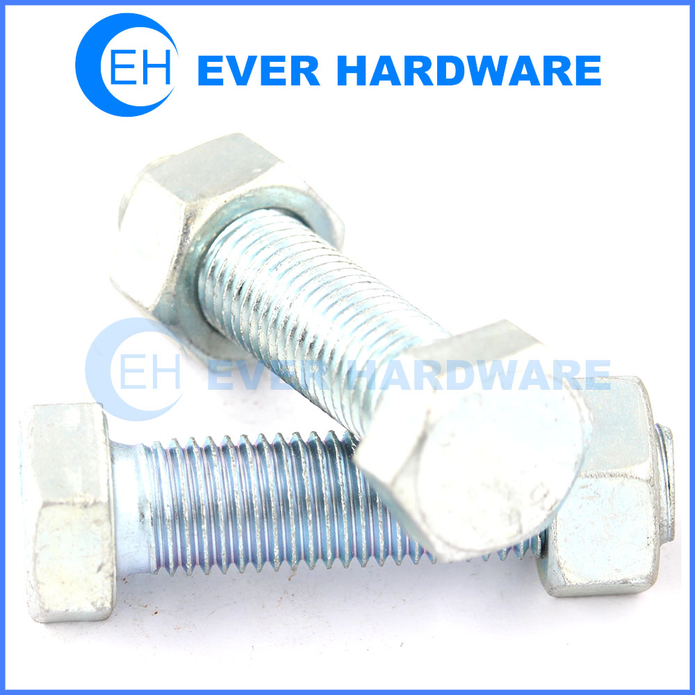 Hex bolt and nut grade 10 metric zinc plating large bolts and nuts supplier