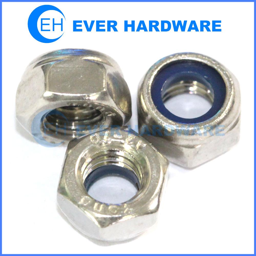 Hex lock nut nylon insert metric lock nuts nylon insert locknut