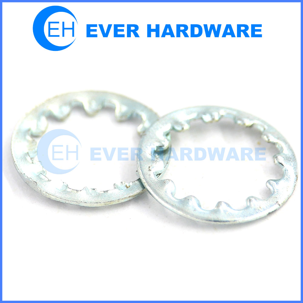 Internal tooth washer metal toothed lock washers steel galvanized