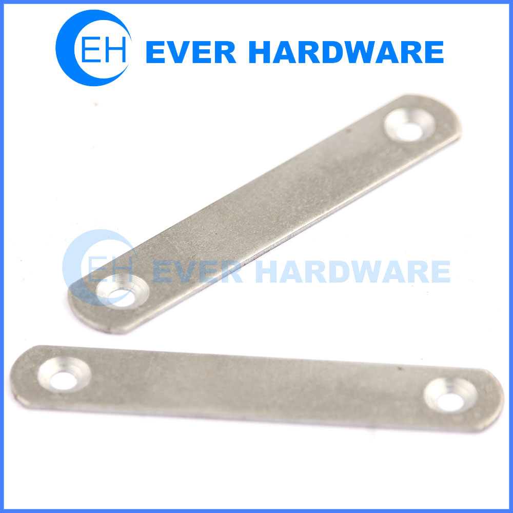 Metal corner brackets 2 holes flat plate connector hardened carbon steel