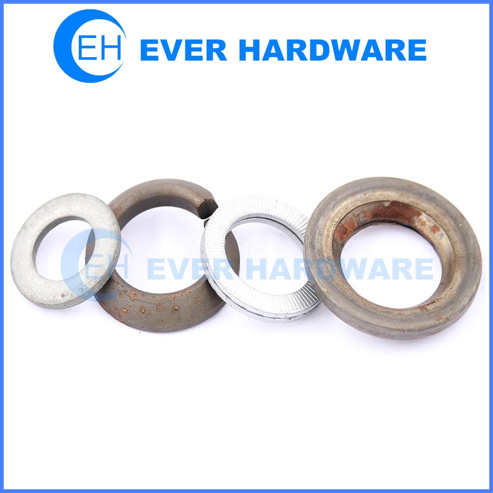Metal lock washer flat spring belleville fender metric washers supplier