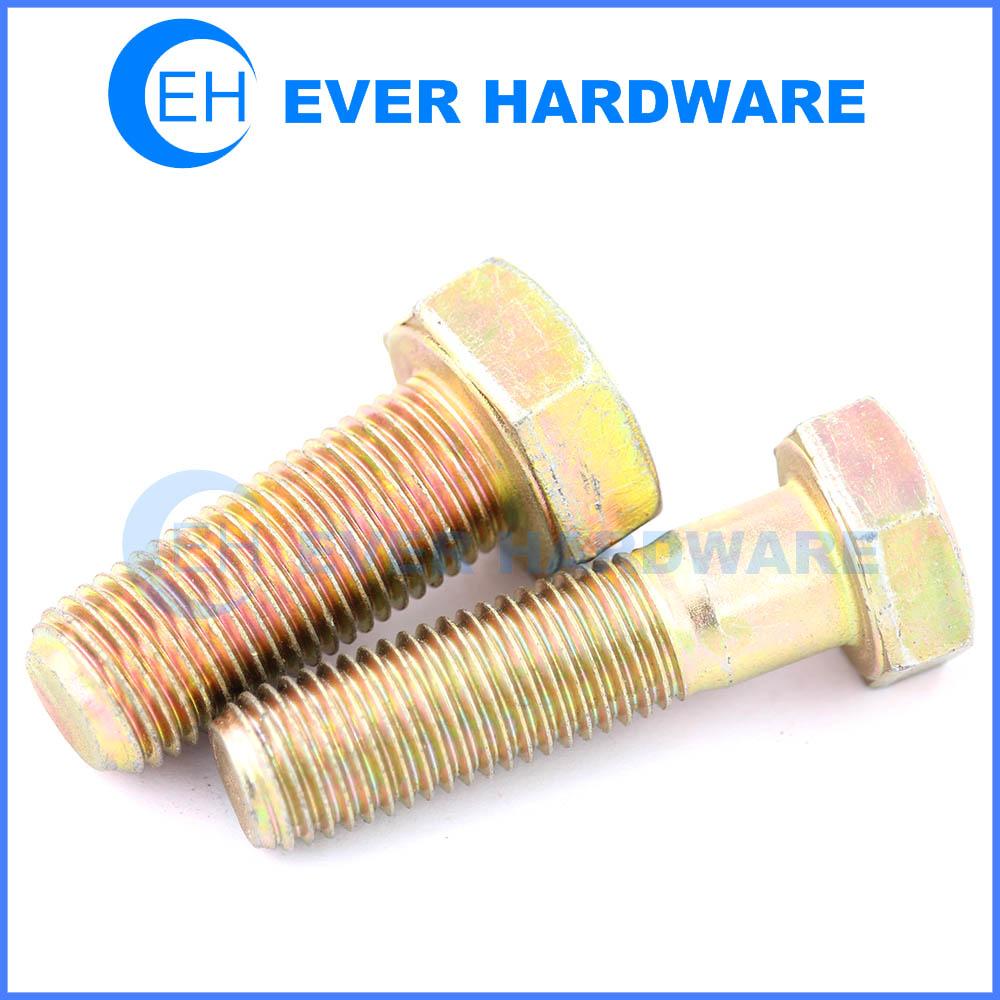 Metric hex bolts full threaded half thread galvanized grade 8 hex bolts