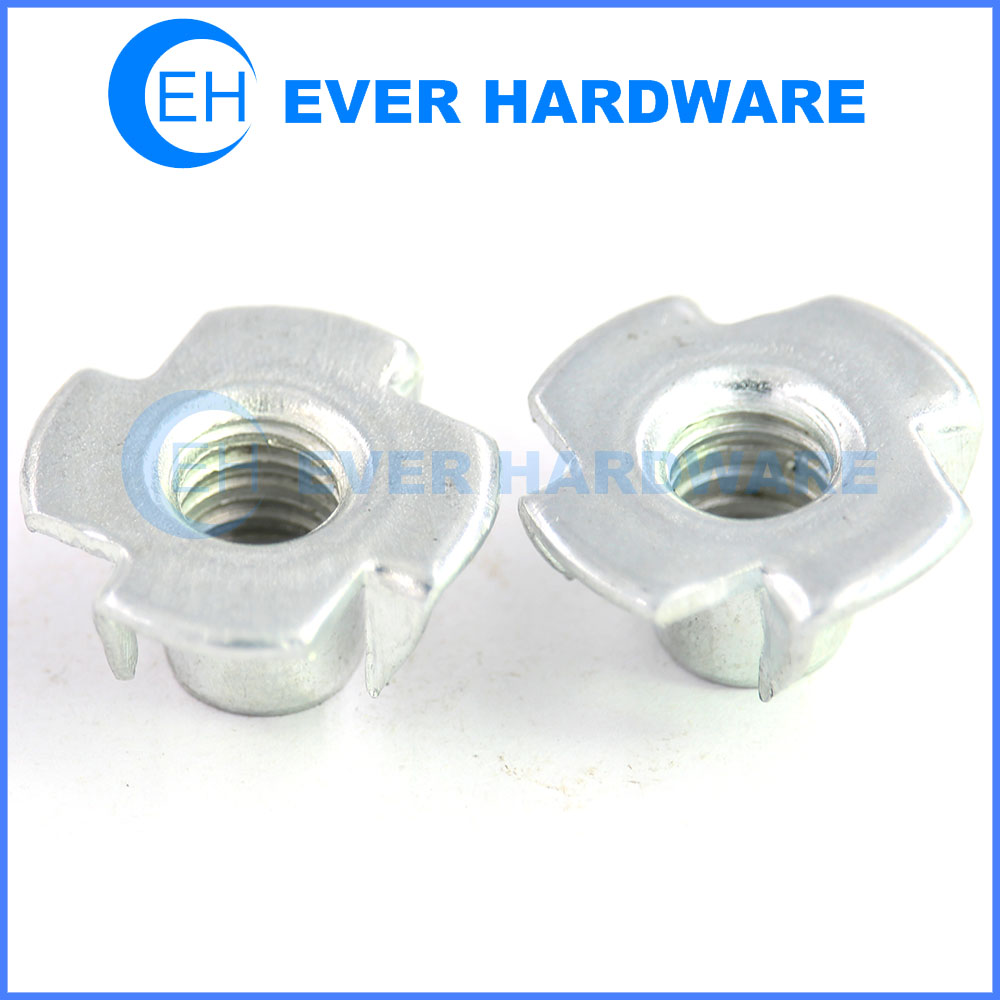 Pronged insert nut captive four pronged blind insert tee nuts manufacturer
