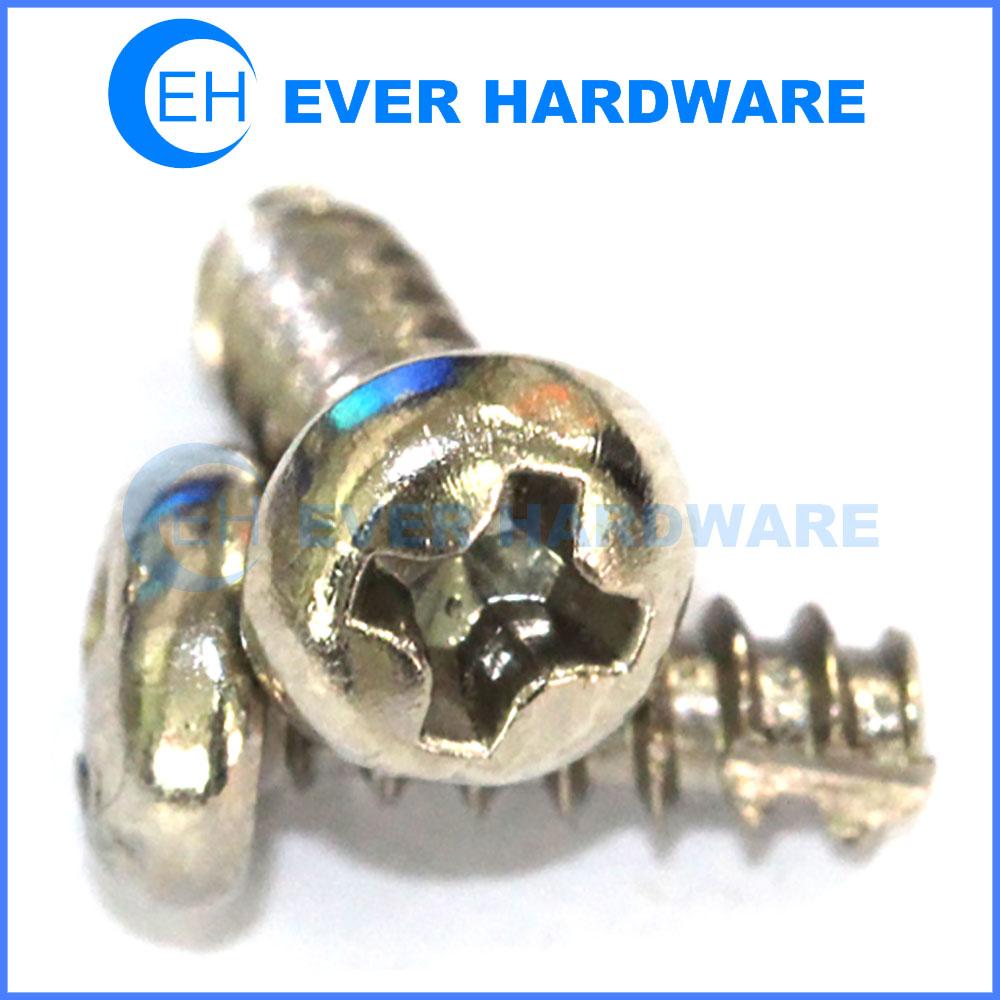 Screws for metal sheet hardened thread cutting metal plate screws