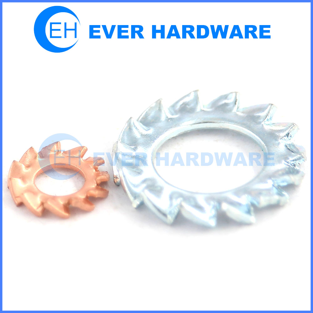 Serrated lock washer out toothed fastener brass lock washers hardware