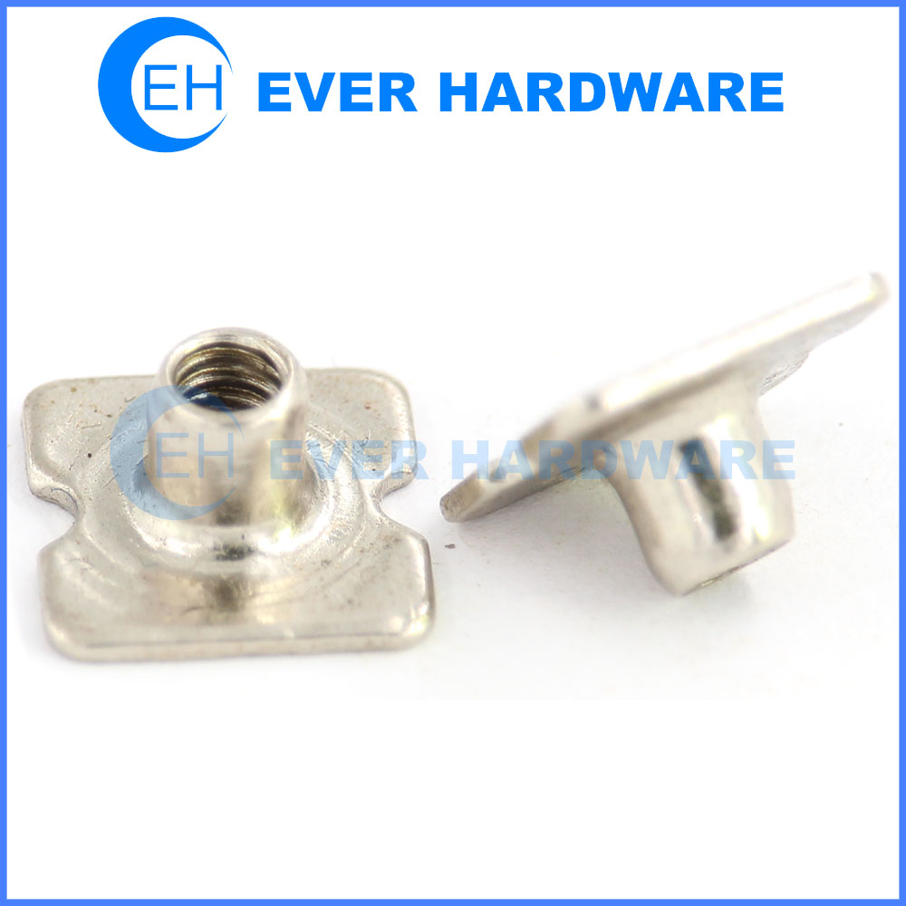 Special T nut threaded insert for metal large flange square t nut