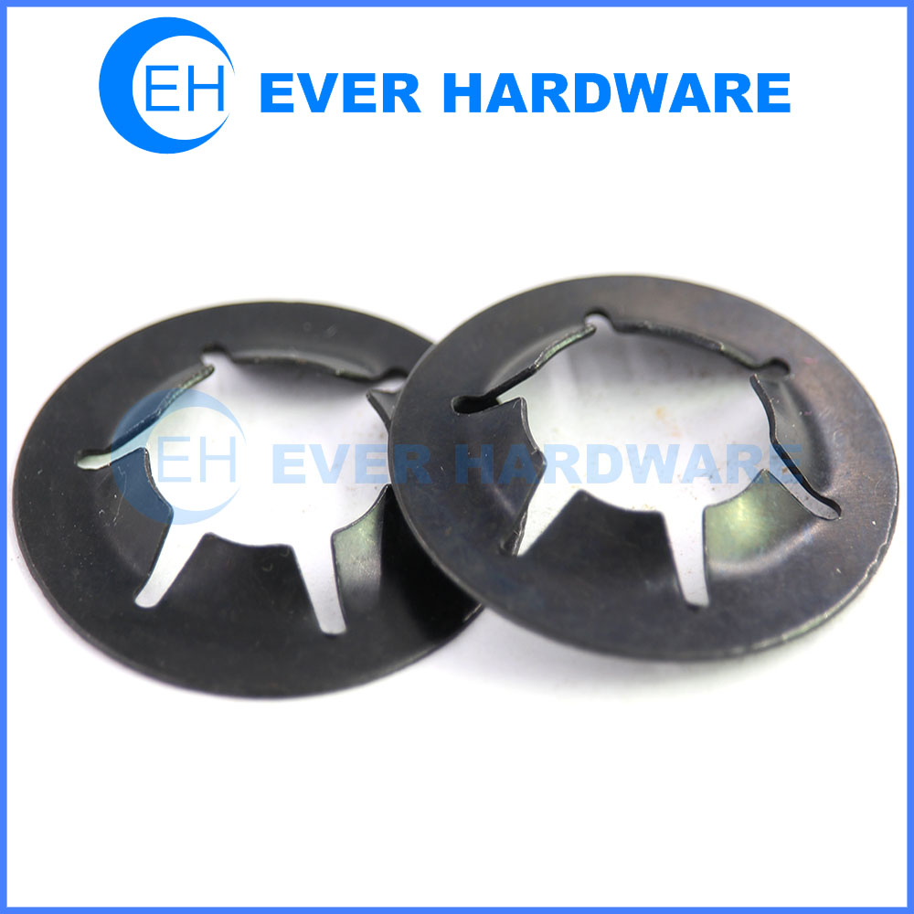 Starlock washer push on clips for metric shaft star lock washers supplier