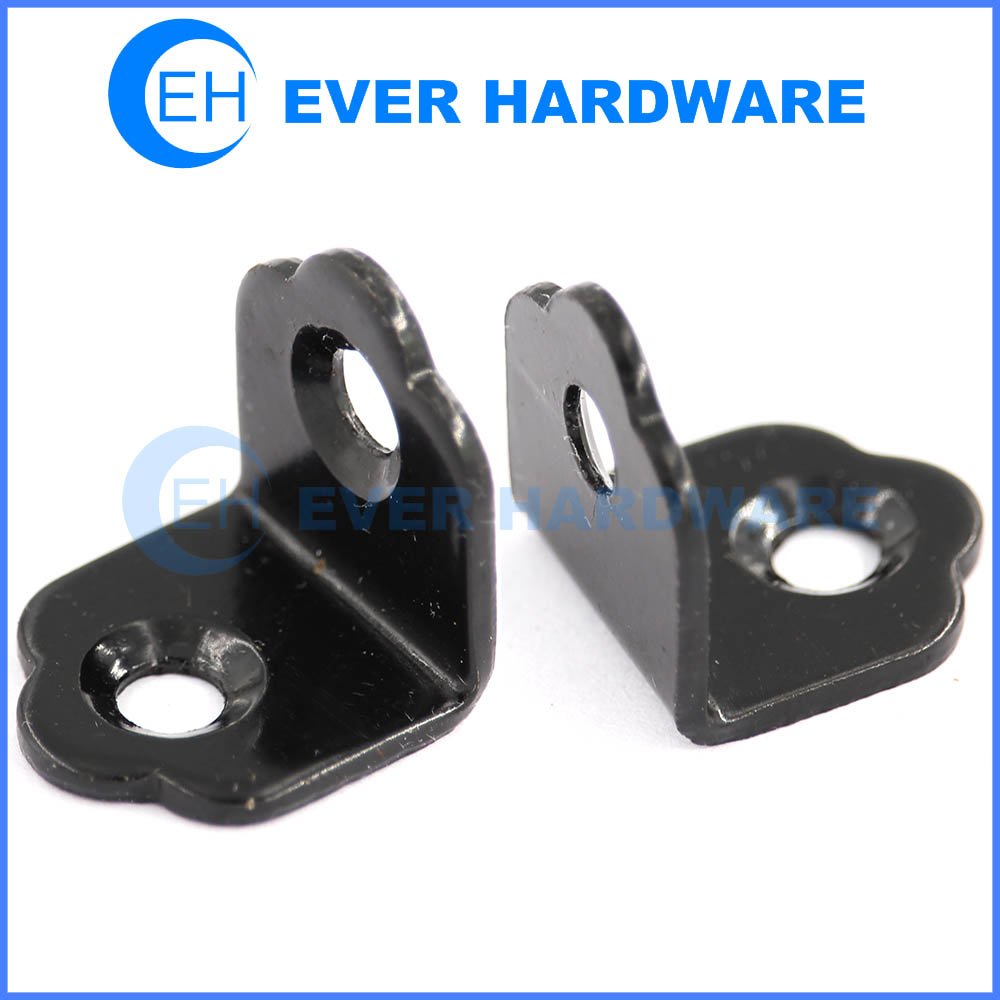 Support angle brackets black plated metal l brackets for shelves