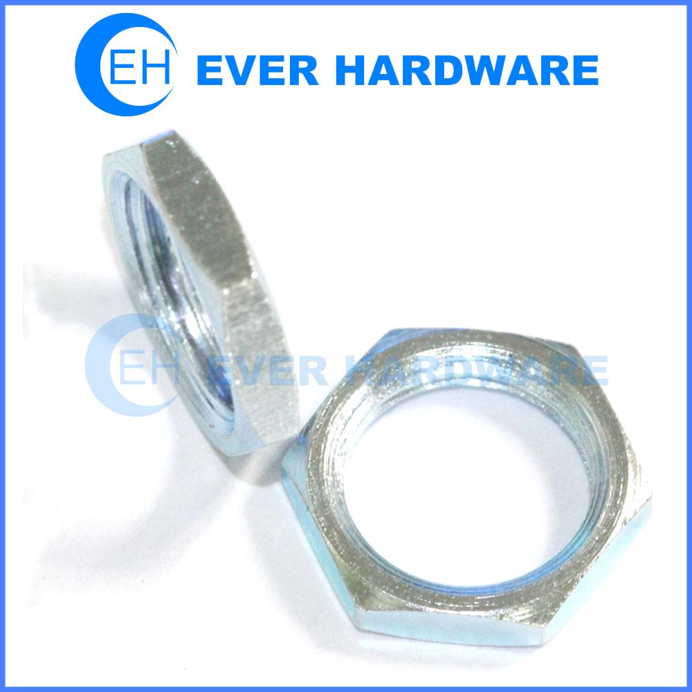 Thin hex nut DIN 936 high tensile steel galvanized metric thin nut