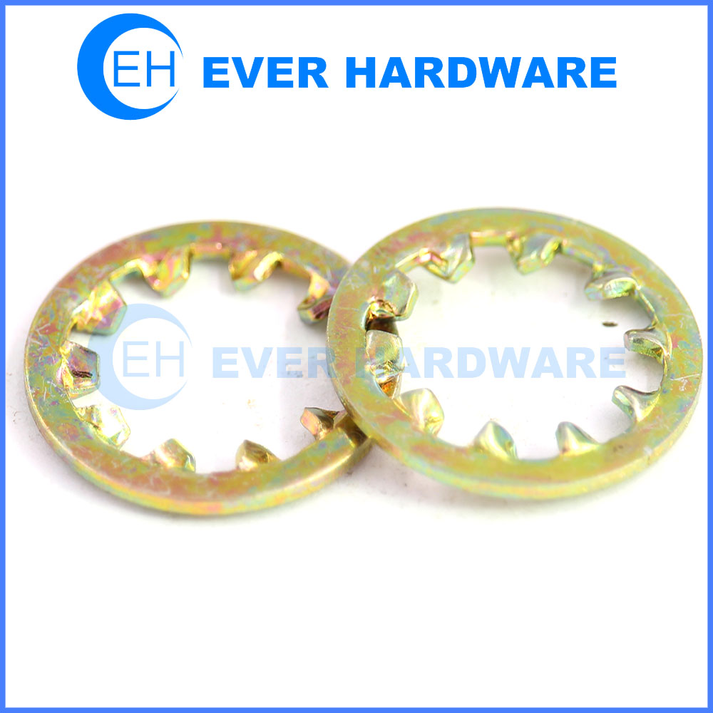 Tooth lock washer internal star toothed lock washer yellow plating