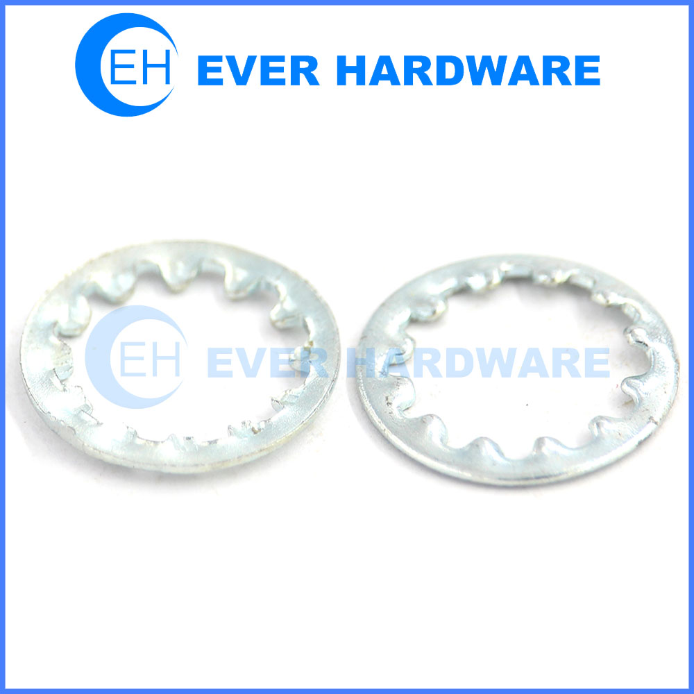 Toothed lock washer internal serrated lock washer retaining washer