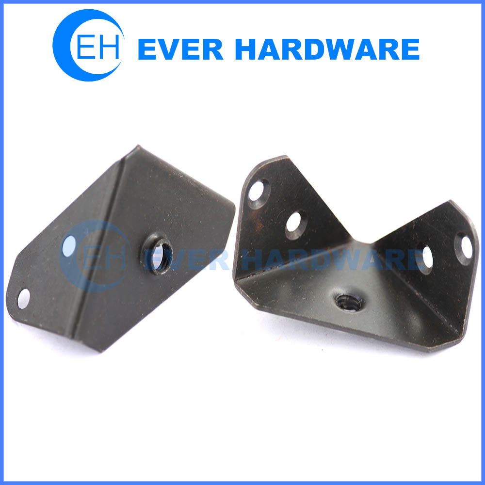 Triangle corner braces holes attached black zinc plated ...