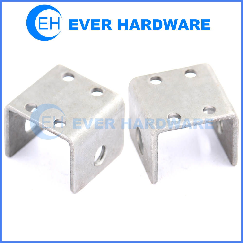 U mounting bracket heavy duty u bracket hardware for furniture corner