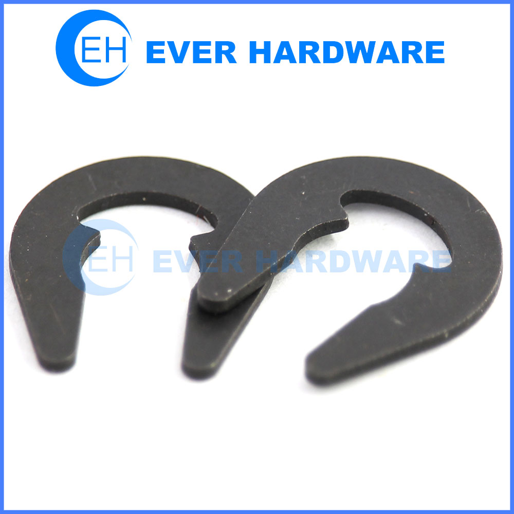 U shaped washer retaining ring open buckle circlip black galvanizing