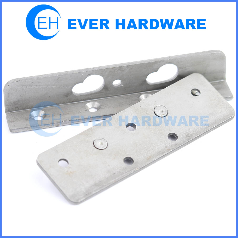 Wrought steel bed rail fasteners heavy duty woodworking and hardware