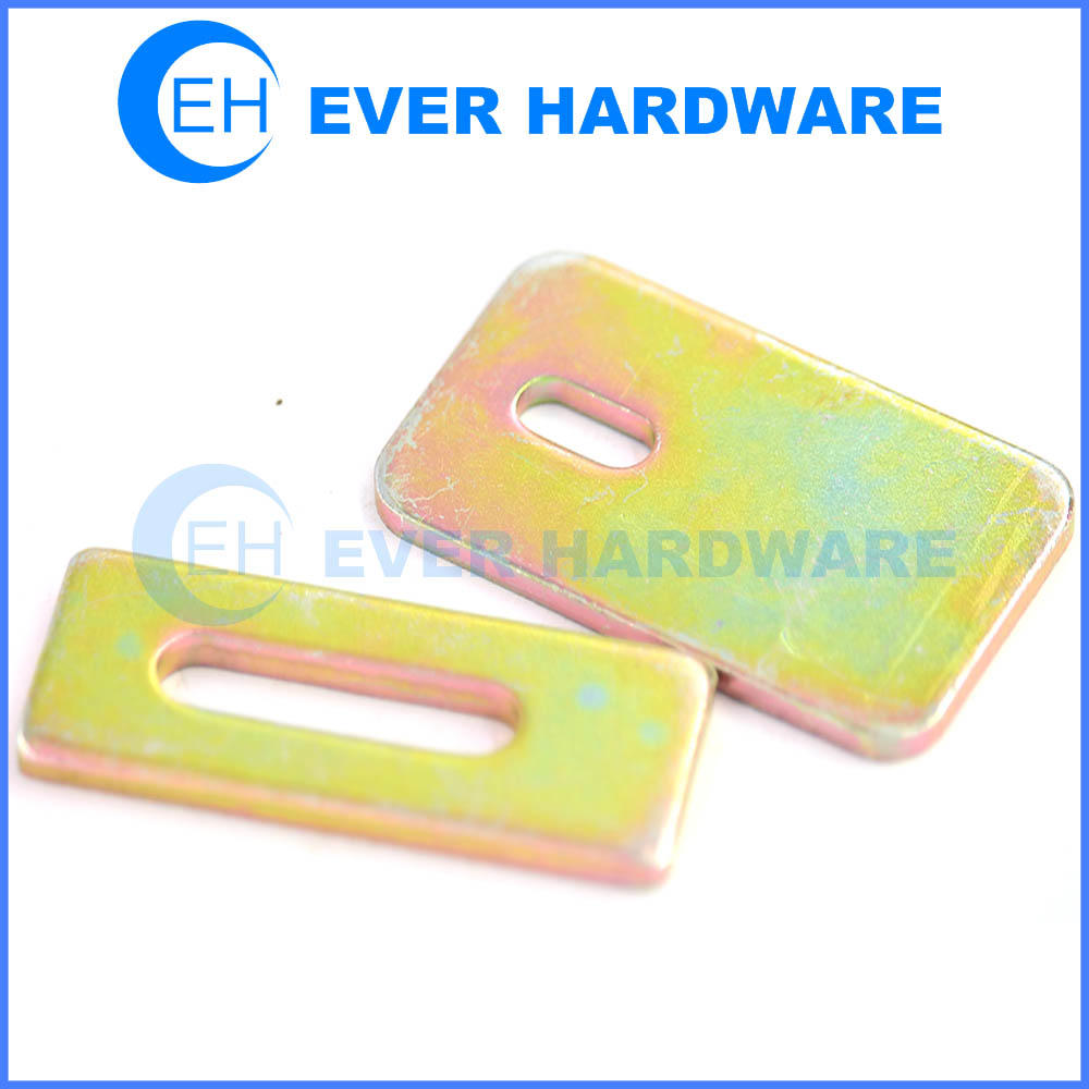 Flat channel bracket unitrust plated steel straight plate framing channel fitting