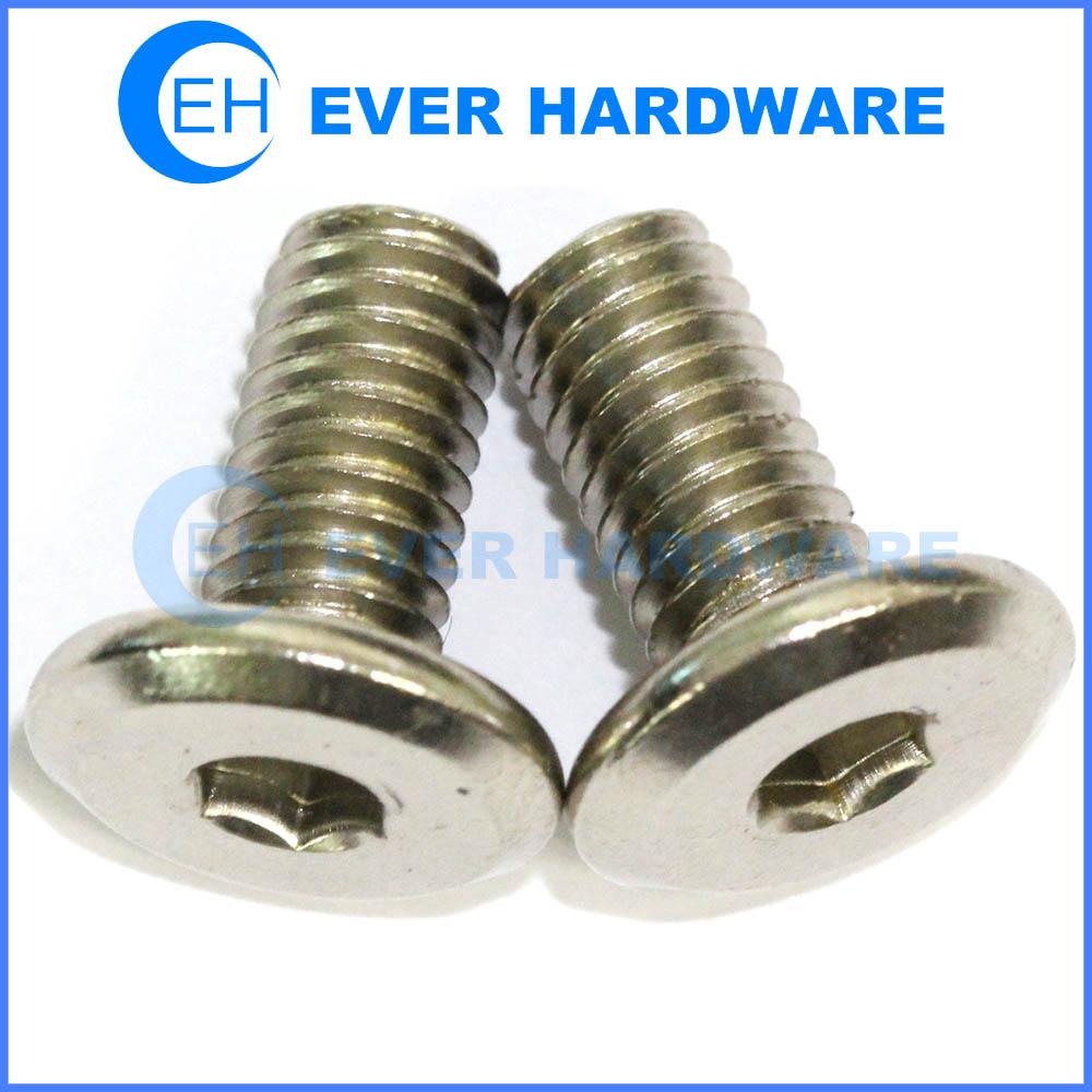 stainless steel flat machine screws