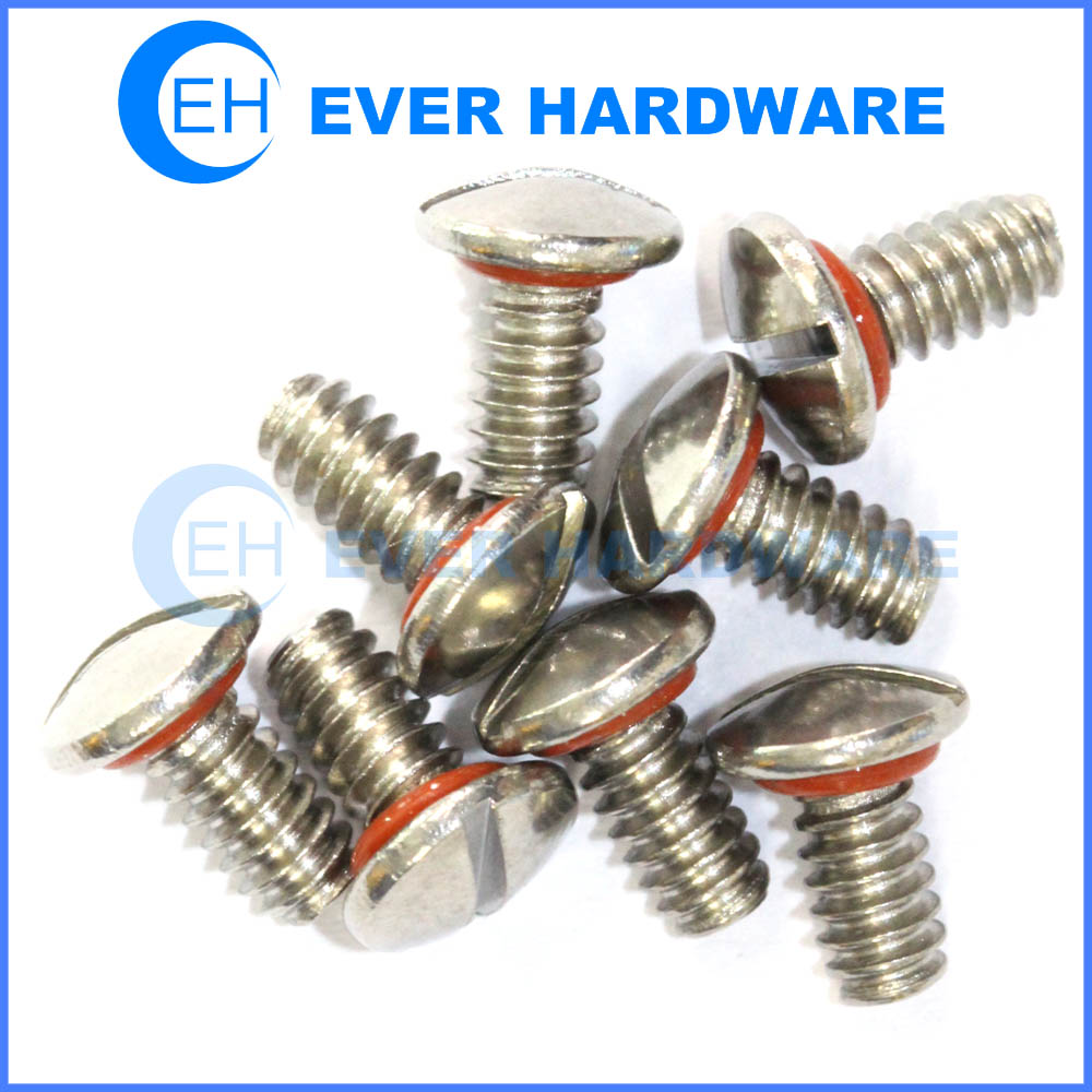 O ring sealing screws silicon stainless steel slotted