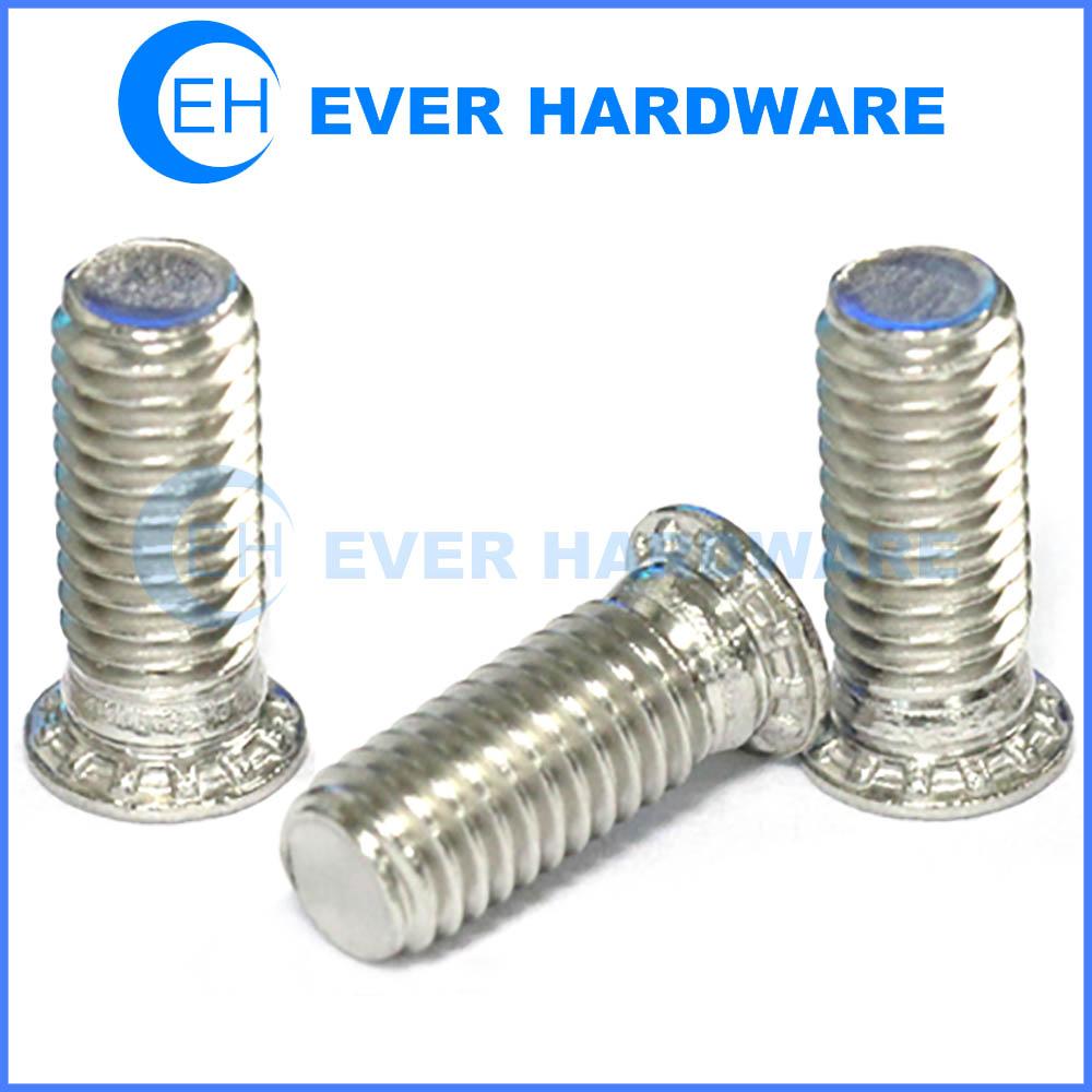 Pressure clinching stud metal rivet head screws stainless