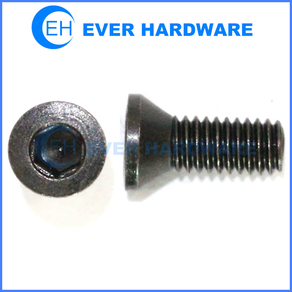 Black Countersunk Bolts Alloy Steel Hex Socket 10 9 Class