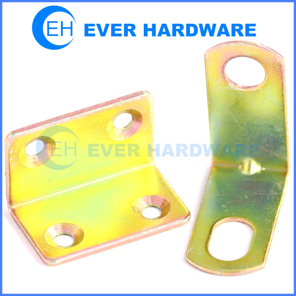 Cabinet Corner Brace Furniture Grade Iron Connector Fitting 90 Degree Right  Angle