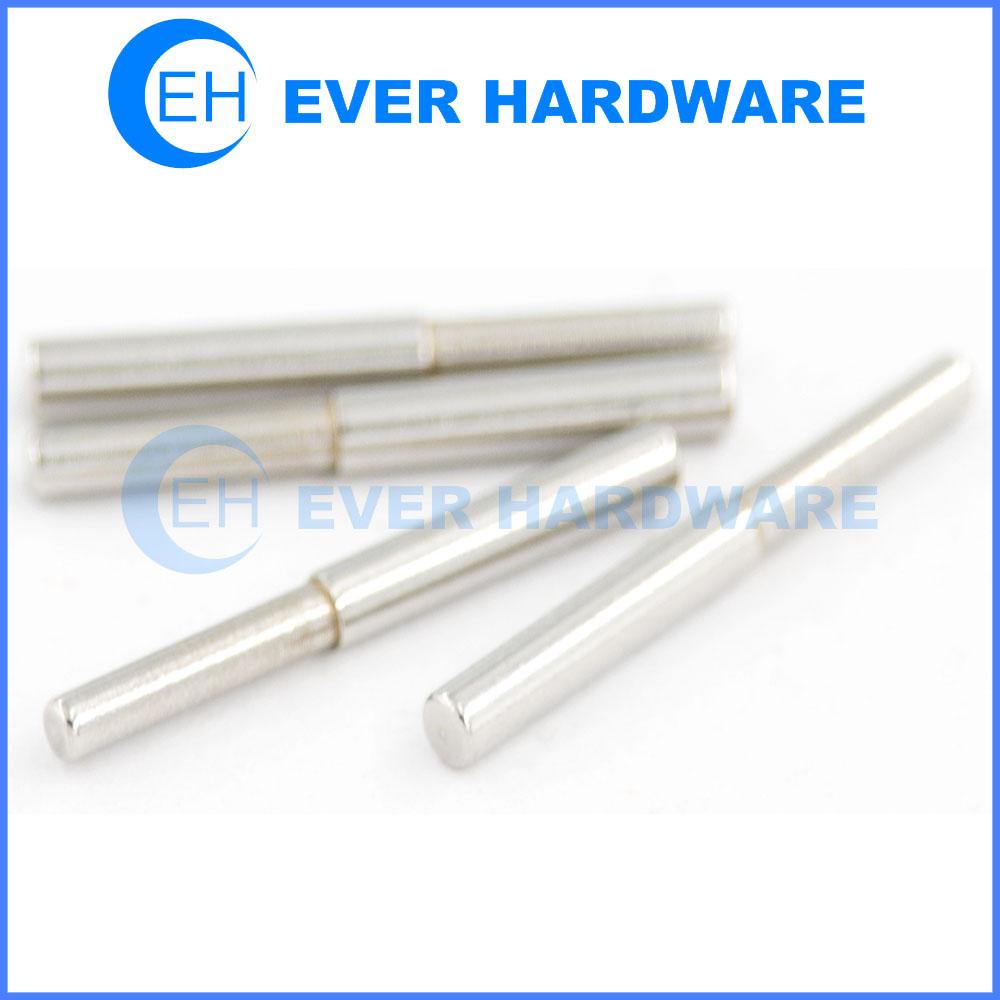 Pull dowel pins alloy steel chamfered flat custom tapper shoulder fixing pin